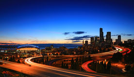 Horisont Seattle Royaltyfria Foton