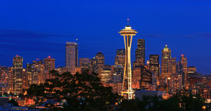 Horisont Seattle Royaltyfri Foto