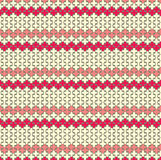 Horisontal red zigzag pattern Stock Image