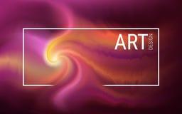 Horisontalabstrakt futuristisk bild Effekten av flytande Plasmaexplosion i form av en spiral och en våg royaltyfri illustrationer