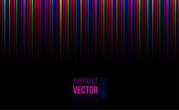 Horisontalbakgrund för abstrakt vektor med ljusa färgband Royaltyfri Fotografi