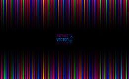 Horisontalbakgrund för abstrakt vektor med ljusa färgband Royaltyfria Bilder