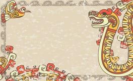 Horisontalbakgrund i den Aztec stilen Arkivbild