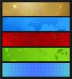 horisontalbaner Arkivbild