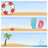 Horisontalbaner för sommarferie Fotografering för Bildbyråer