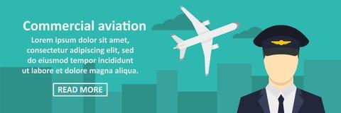 Horisontalbegrepp för kommersiellt flygbaner stock illustrationer