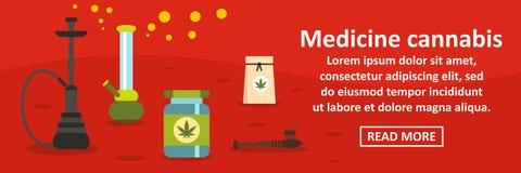 Horisontalbegrepp för medicincannabisbaner royaltyfri illustrationer