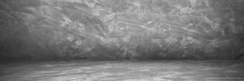 horisontalcement och betongvägg och golv med skugga för PA Royaltyfri Bild
