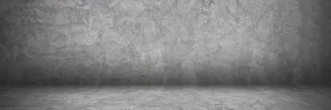 horisontalcement och betongvägg och golv med skugga för PA arkivfoto