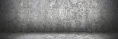 horisontalcementvägg och golv med skugga för modell och bac arkivfoto