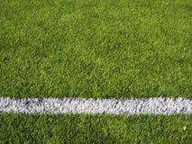 Horisontalfotbollfälts linje Royaltyfri Bild