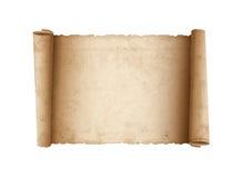 Horisontalgammalt Scrollpapper Arkivbilder