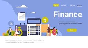 Horisontalkopia för indisk för affärsfolk för finans för begrepp finansiell för graf för analys för räknemaskin för teamwork för  royaltyfri illustrationer