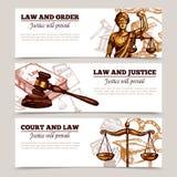 Horisontallagbaner royaltyfri illustrationer