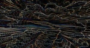 Horisontallivlig genomskinlig färgrik pressad ut kubbakgrund Arkivfoto