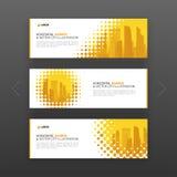 Horisontalorientering för baner för advertizingaffär vektor illustrationer