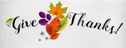 Horisontalräkning för lycklig tacksägelseplats arkivfoto