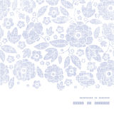 Horisontalram för purpurfärgad textilblommatextur Arkivbild