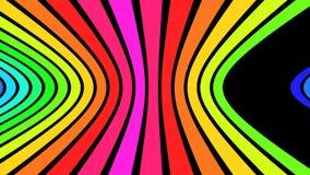 Horisontalregnbågen river av V2 - 4K ultra HD stock illustrationer