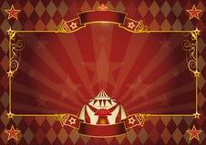 Horisontalrombcirkusbakgrund Royaltyfri Fotografi