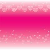 Horisontalsömlös textur med hjärtor Arkivbild