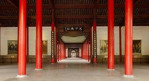 Horisontalskytte - Kina Nanjing presidentpalatset, rymligt hall Arkivfoto