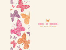 Horisontalsömlöst för blom- fjärilsram Arkivfoton