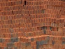 Horisontaltegelstenvägg. Royaltyfria Foton