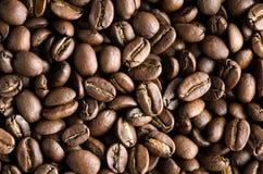 horisontaltextur för tätt kaffe upp Royaltyfri Bild