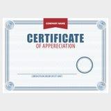 Horisontaltomt certifikat Arkivfoto