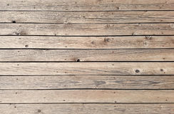 Horisontalträbakgrund för plankadäcktextur arkivbild
