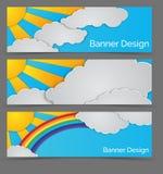 Horisontalvektorbaner vektor illustrationer