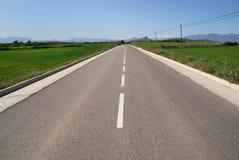horisontbergväg Royaltyfri Fotografi