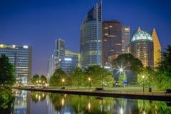 Horisonten av den Haag staden Den Haag i Nederländerna royaltyfri foto