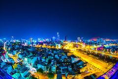 Horisonten av Ho Chi Minh City Royaltyfri Foto