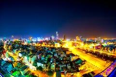 Horisonten av Ho Chi Minh City Fotografering för Bildbyråer