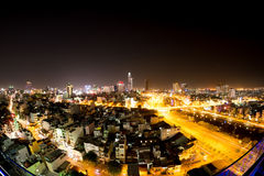Horisonten av Ho Chi Minh City Royaltyfri Bild