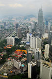 Horisonten av Kuala Lumpur, Malaysia Royaltyfri Fotografi