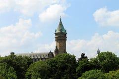 Horisonten av Luxembourg Arkivfoto