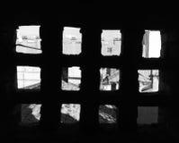 Horisonten av tak Arkivbild
