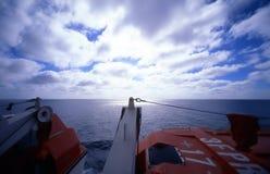 horisontlifeboat royaltyfria foton