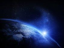 horisontlinjen för jord 3d framförde avstånd Royaltyfri Foto