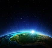 horisontlinjen för jord 3d framförde avstånd Royaltyfria Foton