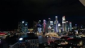 Horisontnatt Singapur Arkivbild