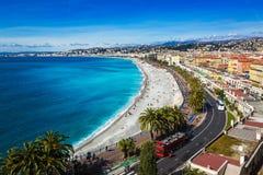 Horisontpromenad av Nice, Frankrike Royaltyfria Bilder