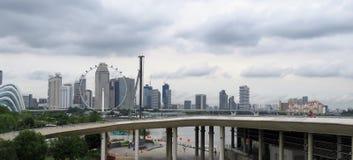 Horisontsikt av den Singapore - Buidling skyskrapan Arkivbilder