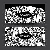 Horiz фирменного стиля притяжки руки шаржа вектора запаса красочное Стоковая Фотография