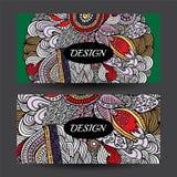 Horiz colorido da identidade corporativa da tração conservada em estoque da mão dos desenhos animados do vetor Imagens de Stock