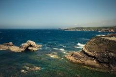 Horizo do oceano Fotos de Stock Royalty Free