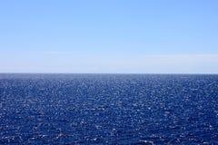 Horizon. Half view of ocean and horizon Stock Photography